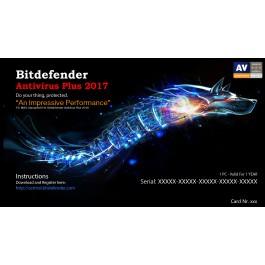 Bitdefender AntivirusPlus 2017,  1 Liçensë/ 1 Vit