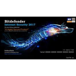 Bitdefender Internet SECURlTY 2017,  1 Liçensë/ 1 Vit