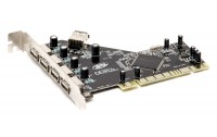 Karte PCI to USB 4+1 Ports Internal HUB PCI Host Controller Card USB 2.0