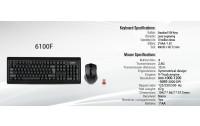 A4Tech Tastiere + Mouse Wireless Model 6100F PADLESS Wireless Desktop