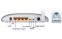 TP - LINK ethernet port ADSL2+ modem with bridge mode, Trendchip chipset, ADSL/ADSL2/ADSL2+, Annex A, with ADSL spliter